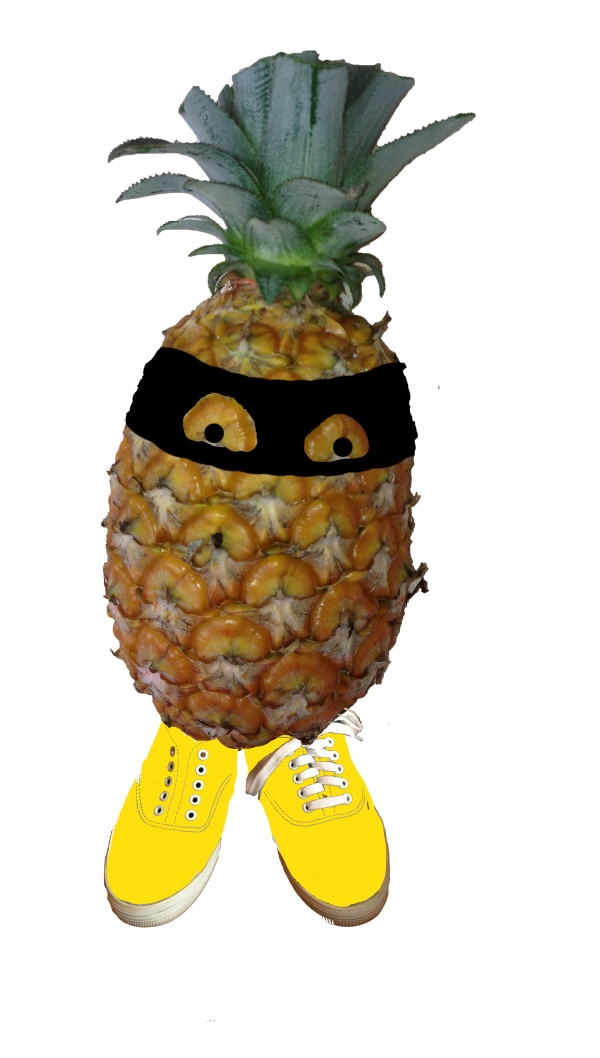 ananas theif with shoes