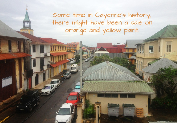 cayenne street with words