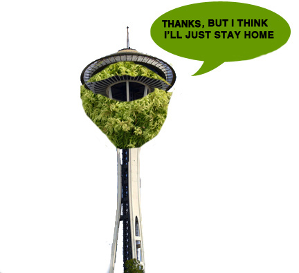 space needle moss