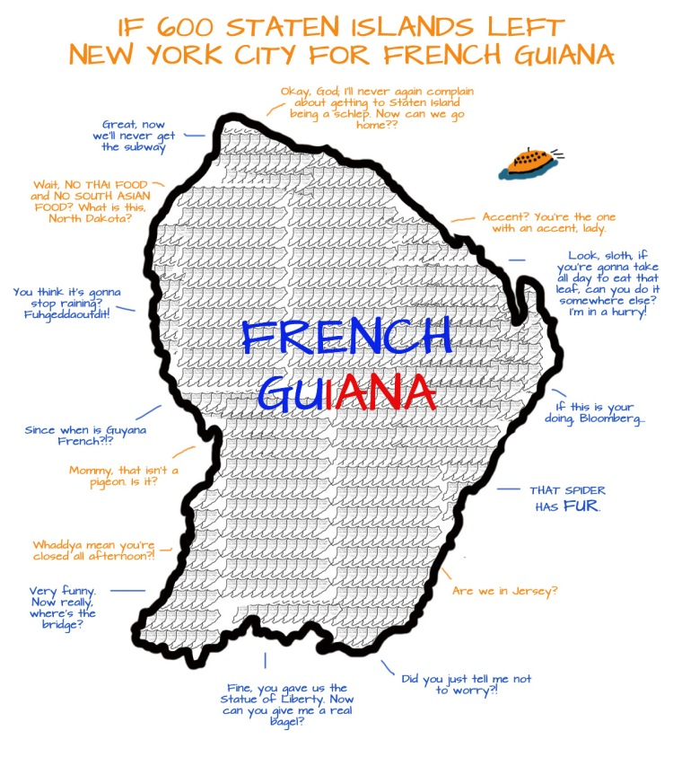 Staten island in french guiana