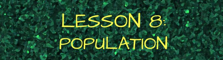 lesson 8 population